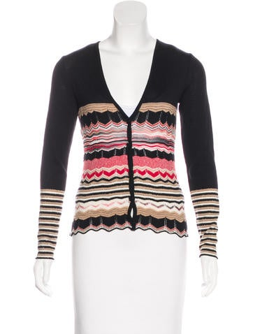 M Missoni Patterned Knit Cardigan None