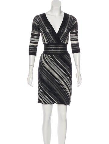 M Missoni Metallic Knee-Length Dress None