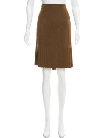 M Missoni Plissé Wool Skirt None