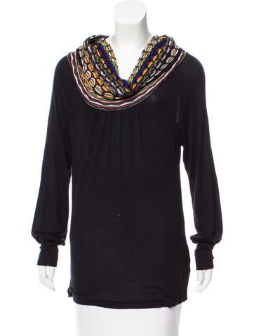 M Missoni Off-The-Shoulder Long Sleeve Top None