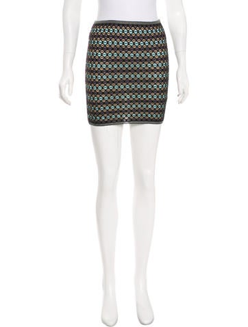 M Missoni Wool-Blend Knit Mini Skirt None
