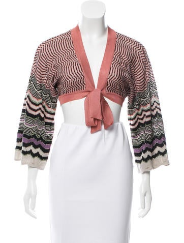M Missoni Patterned Crop Cardigan None