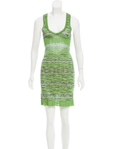 M Missoni Patterned Knit Dress None