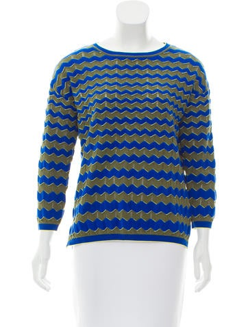M Missoni Chevron Knit Top None
