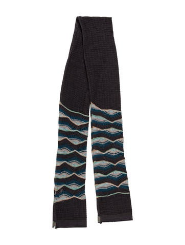 M Missoni Patterned Knit Scarf None