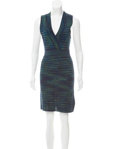 M Missoni Knit Knee-Length Dress None