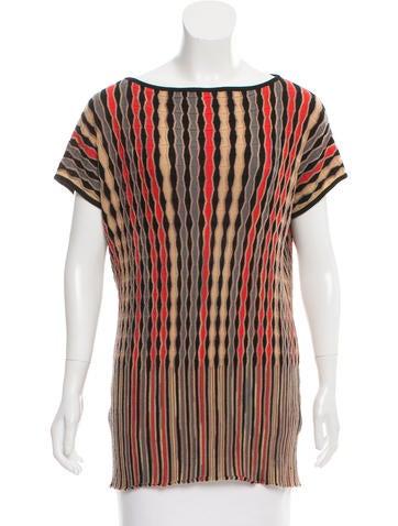 M Missoni Striped Wool Top None