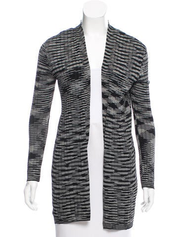 M Missoni Rib Knit Open-Front Cardigan None
