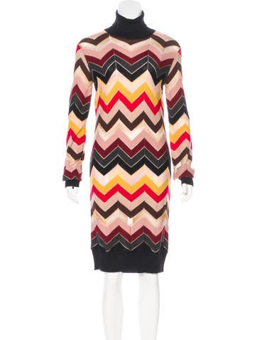 M Missoni Wool Knit Knee-Length Dress None
