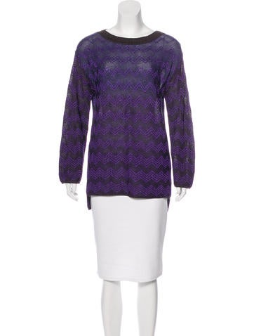 M Missoni Printed Long Sleeve Top None