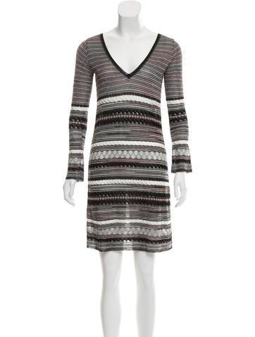 M Missoni Pattern Knit Mini Dress None