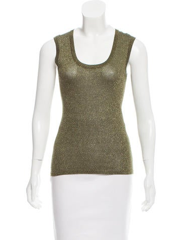 M Missoni Sleeveless Lurex Top None