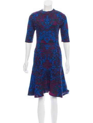 M Missoni Intarsia Knit A-Line Dress None