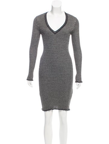 M Missoni Knee-Length Knit Dress None