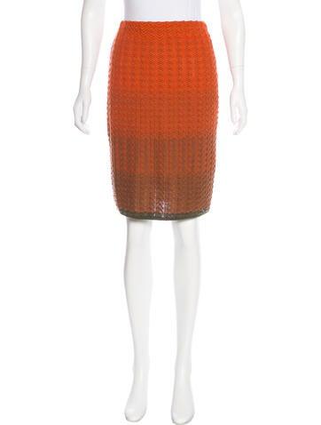 M Missoni Wool-Blend Knee-Length Skirt None
