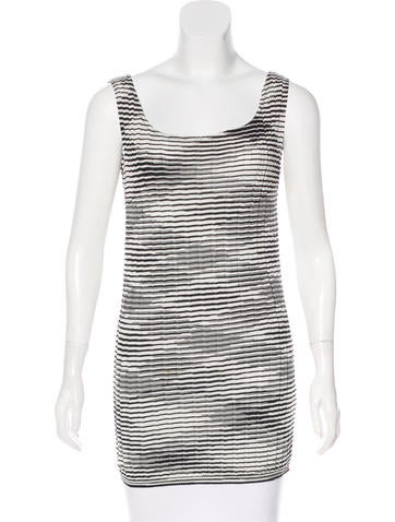 M Missoni Striped Rib Knit Top None