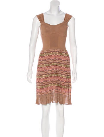 M Missoni Sleeveless Knit Dress None