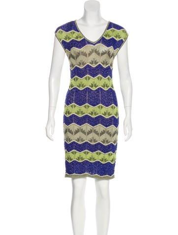 M Missoni Metallic Knit Mini Dress None