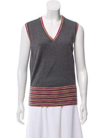 M Missoni Wool Knit Sleeveless Top None