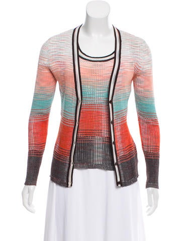M Missoni Rib Knit Cardigan Set None