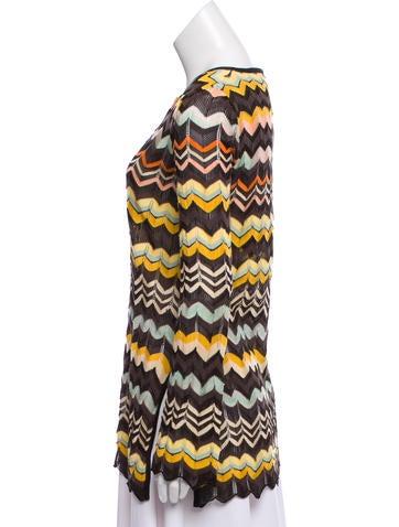 Chevron Stripe Knit Tunic