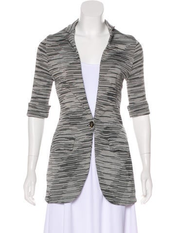 M Missoni Knit Button-Up Jacket None