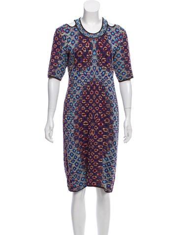 M Missoni Printed Knit Midi Dress None