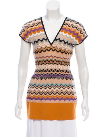 M Missoni Merino Wool Knit Top None