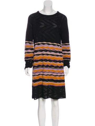 M Missoni Wool-Blend Sweater Dress None