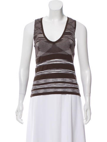 M Missoni V-Neck Sleeveless Sweater None