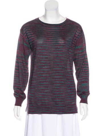 M Missoni Long Sleeve Knit Top None