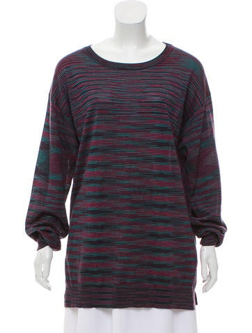 M Missoni Virgin Wool Knit Top None