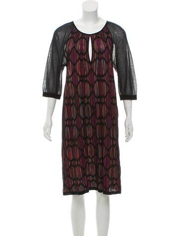 M Missoni Patterned Knit Dress None