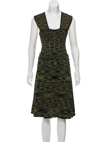 M Missoni Sleeveless Knit Midi Dress None