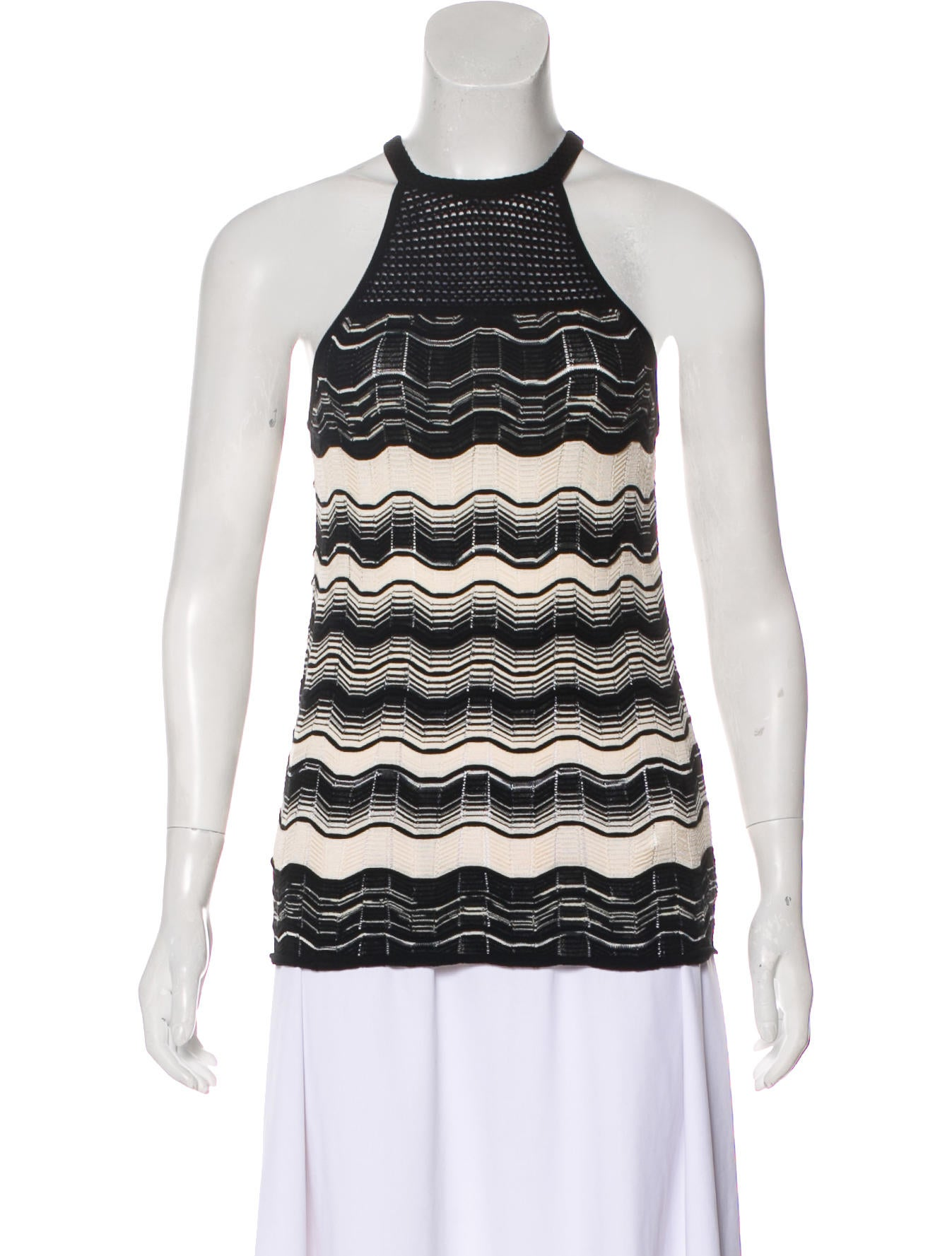 M Missoni Knit Halter Top Clothing Wm449114 The Realreal