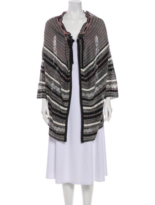 M Missoni Lightweight Long Sleeve Cardigan Black