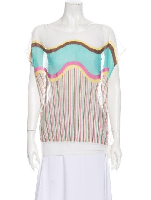 M Missoni Lightweight Knit Sweater White