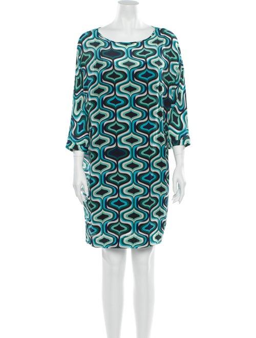 M Missoni Silk Mini Dress Green