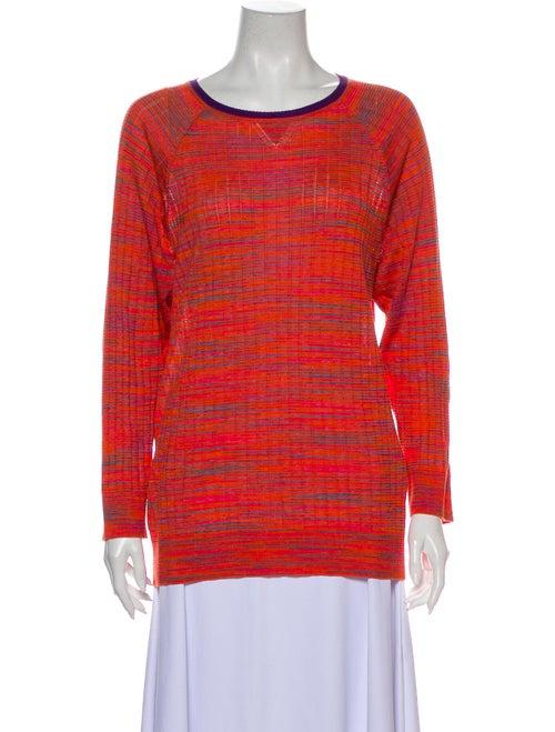 M Missoni Scoop Neck Sweater Orange