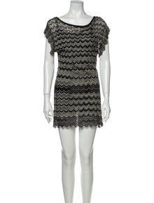 M Missoni Printed Mini Dress