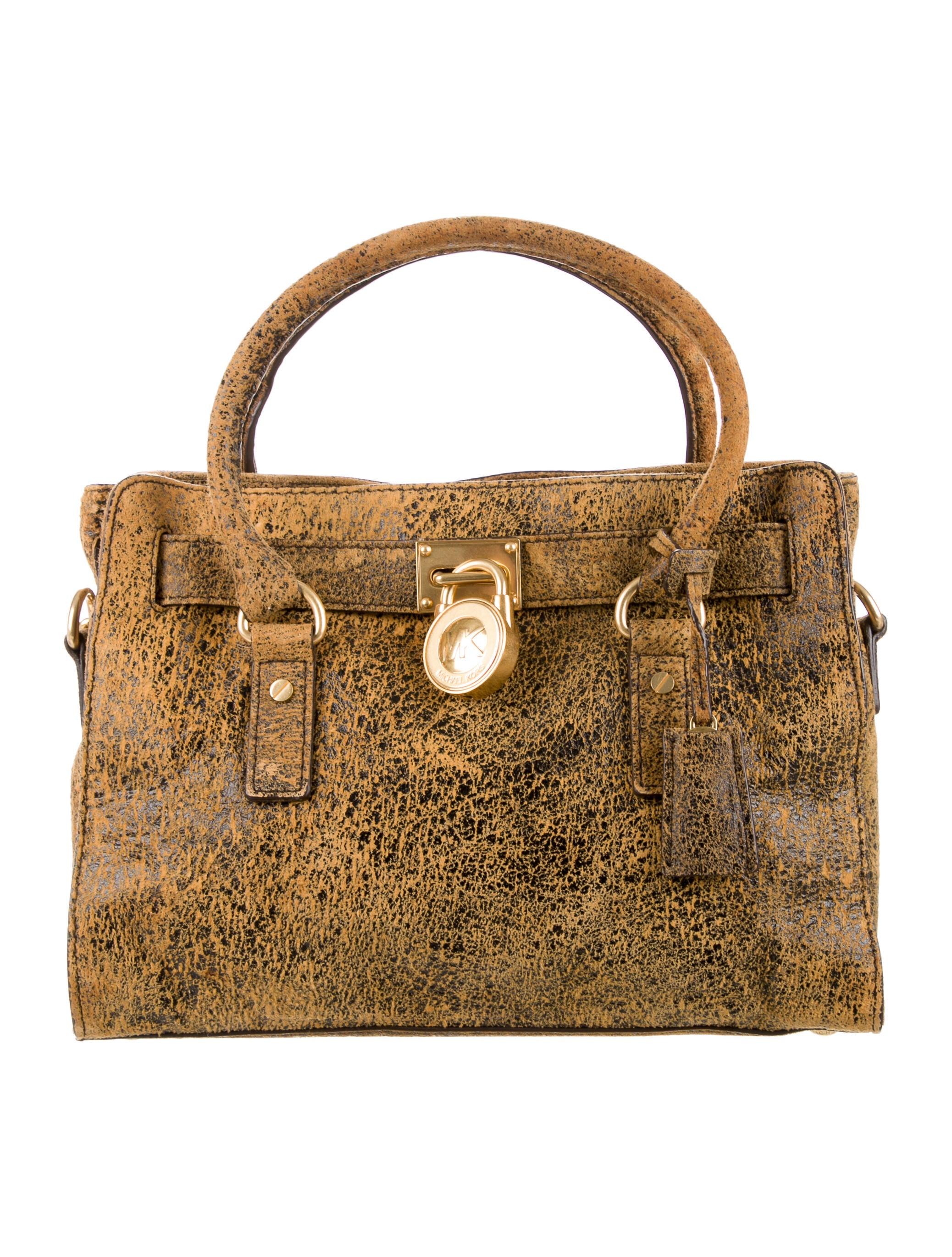 a1183d1fc278 Michael by Michael Kors Distressed Hamilton Tote - Handbags ...
