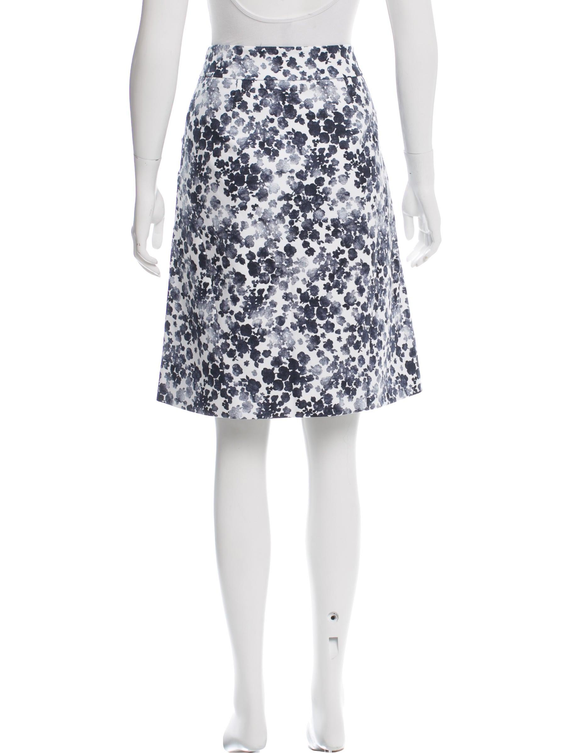 michael michael kors floral print knee length skirt w