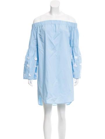 Michael Michael Kors Embellished Off-The-Shoulder Dress None