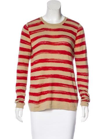 Michael Michael Kors Striped Linen-Blend Top None