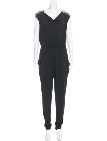 Michael Michael Kors Embellished Sleeveless Jumpsuit None