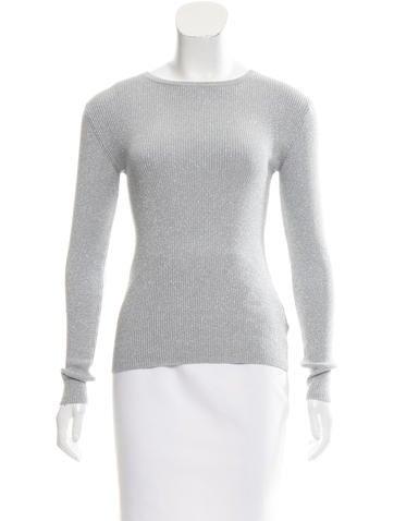 Michael Michael Kors Ribbed Metallic Sweater None