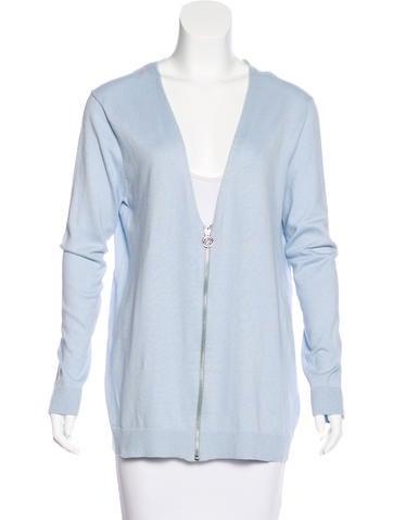 Michael Michael Kors Knit Zip-Up Cardigan None