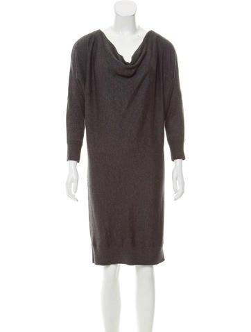 Michael Michael Kors Long Sleeve Knee-Length Dress None