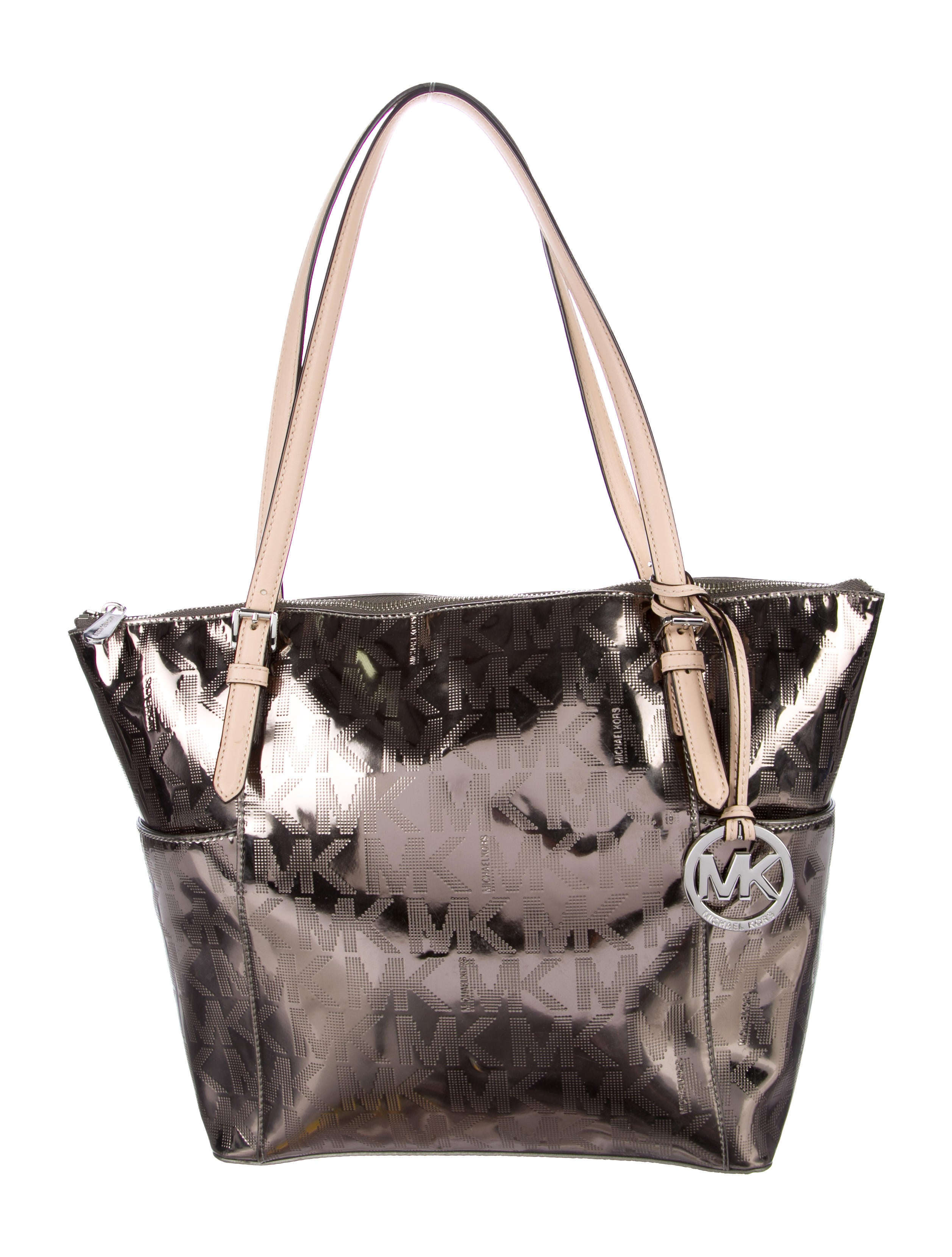Michael Michael Kors Metallic Jet Set Tote Handbags