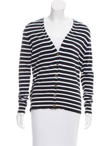 Michael Michael Kors Striped Cardigan Sweater None